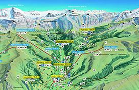 Summer panorama map