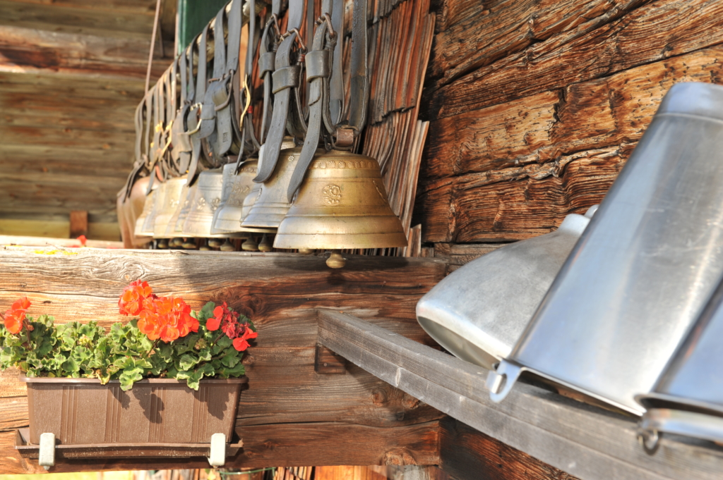 Bells at an alp hut