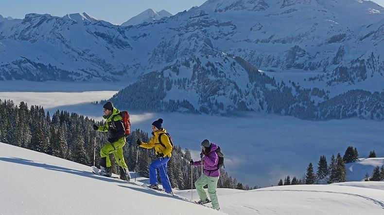 Schneeschuhlaufen Lenk-Simmental