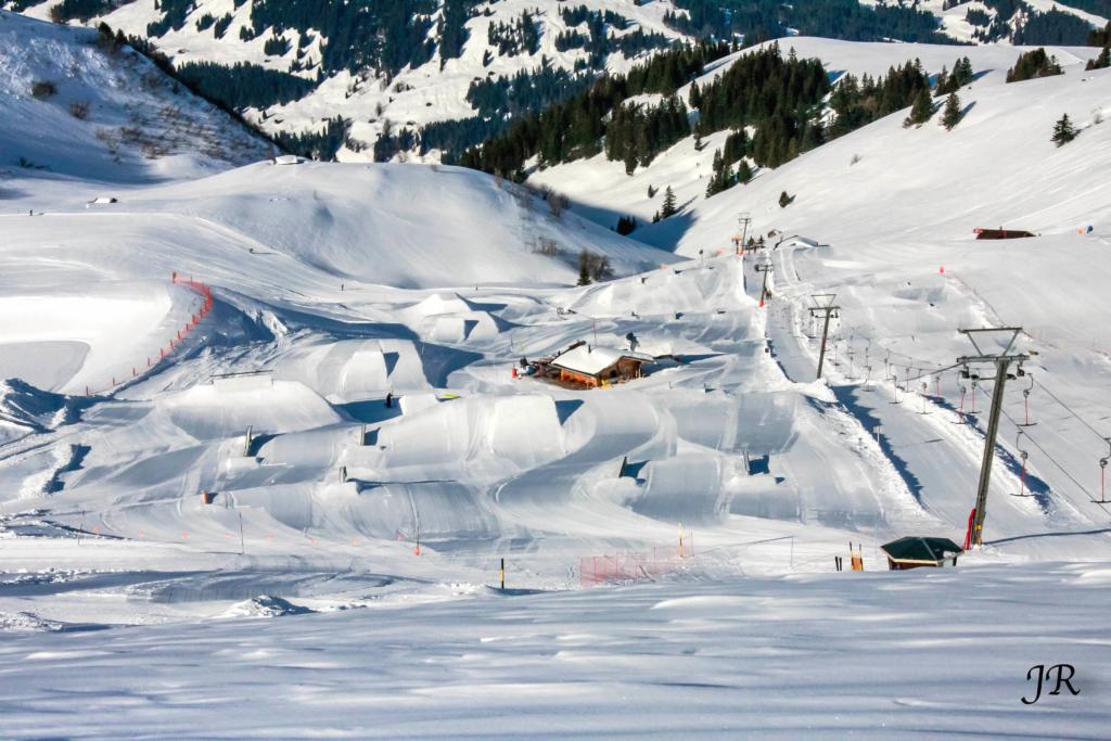 Gran Masta Park de la domaine skiable Adelboden-Lenk... à fond !
