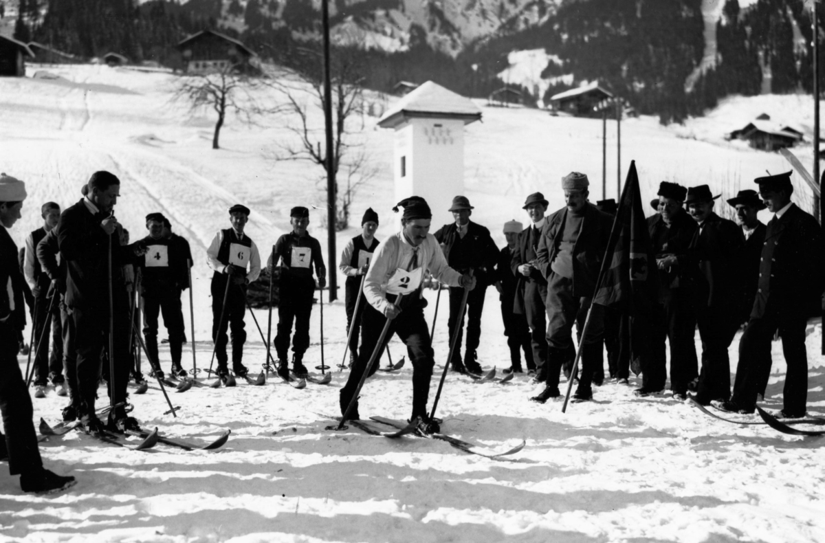 Ski race of 1904 at Lenk