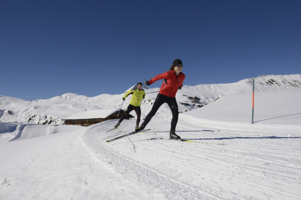 Cross-country skiing on the Betelberg