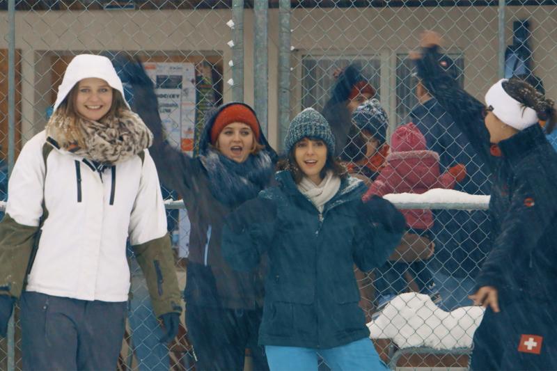 Gruppenausflug im Schnee