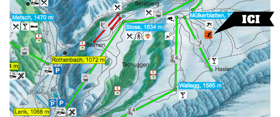 Plan domaine skiable Audi Skicross Gold Park