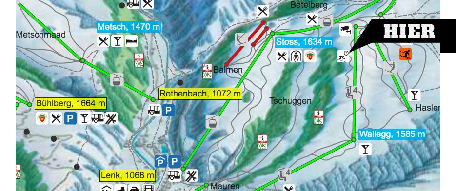 Pistenplan Swisscom Skimovie