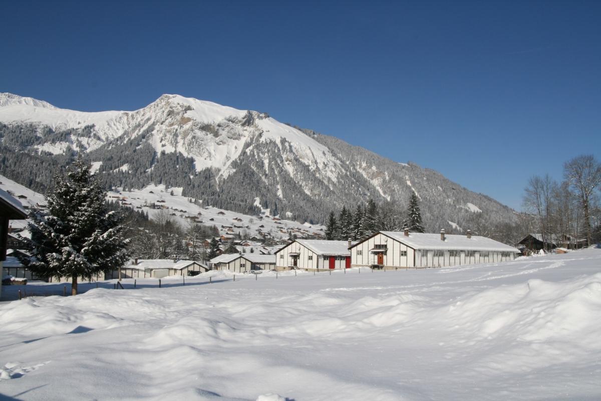 Backpacker Camp en hiver