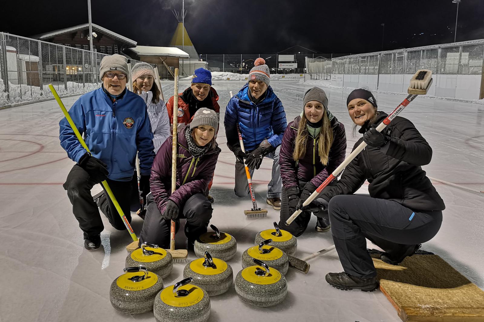 Erlebnis Daniela: Team Curling