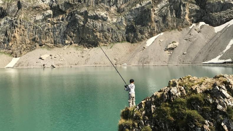 Fischen am Iffigsee