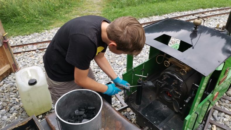 Erlebnis Dampflokomotive für Kinder